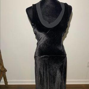 Calvin Klein 2 Retail Black Scoop Neck Velvet